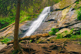 Beautiful Waterfalls Skakavica in Rila Mountains in Bulgaria