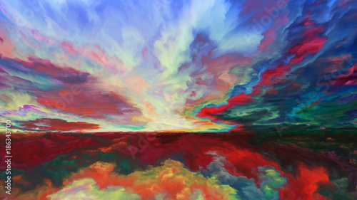 Vision of Abstract Landscape - 186343700