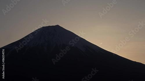 Poster Sun is rising behind Mt. Fuji