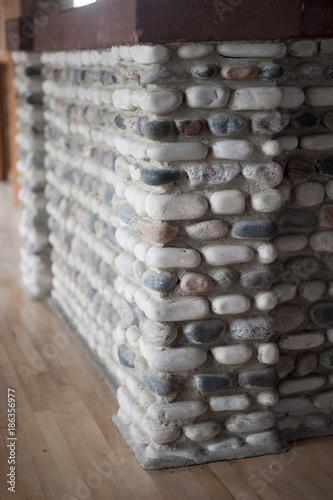 In de dag Stenen Stone Wall Corner
