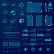 HUD elements collection. Set of graphic abstract futuristic hud pannels. Vector illustration