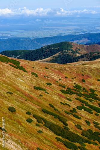 Fotobehang Landschappen slovakian carpathian mountains in autumn.
