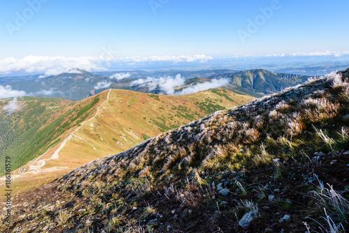 Fotobehang Zwart slovakian carpathian mountains in autumn.