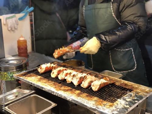 Plexiglas Seoel Korean food stall