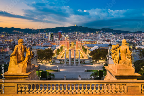 Skyline of Barcelona, Spain