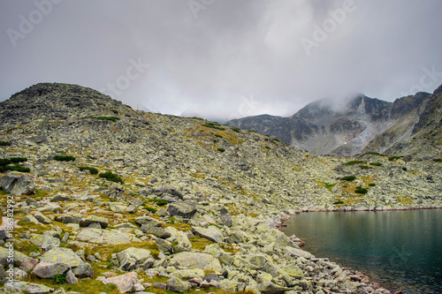 Tuinposter Donkergrijs Beautiful landscape at Musala, lakes, Rila, Bulgaria