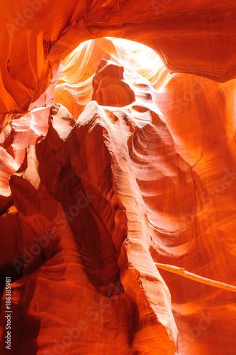 Fotobehang Rood traf. Red Rocks of Antelope Canyon