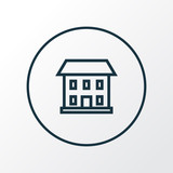Home icon line symbol. Premium quality isolated house element in trendy style. - 186393144
