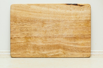 Detailed closeup of wooden kitchen board