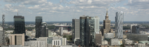 Panorama of Warsaw financial center - 186404716