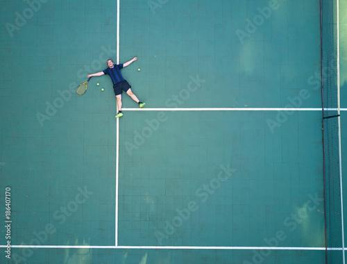 Aluminium Tennis Tennis player tired after game