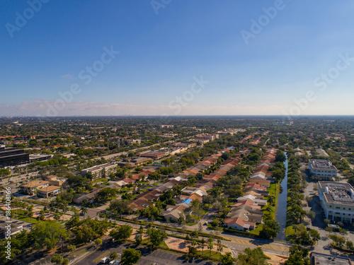 Foto op Plexiglas Parijs South Florida Urban Aerial Photography
