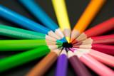 Color pencils arranged in circle - 186418738