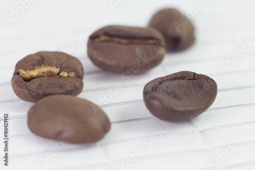 Foto op Canvas Koffiebonen coffee beans