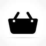 basket icon on white background - 186435124