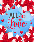 All You Need is Love Lettering with Gifts