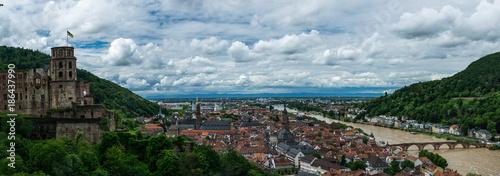 Fotobehang Panoramafoto s Panorama von Heidelberg
