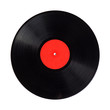 vinyl record detail with copy space isolated over white