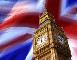 Big Ben - London - British Flag poster
