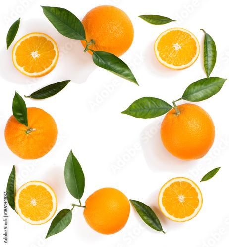 Citrus fruit background - oranges.