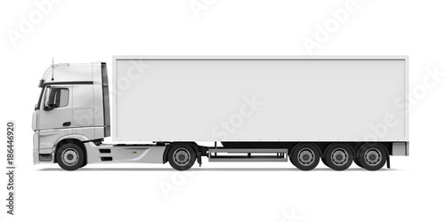 Fototapeta Container Truck Isolated