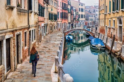 Poster Venetie Venedig, Kanal