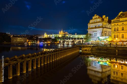 Night Prague. Czech Republic. Poster
