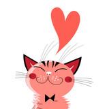 Graphics in love cat