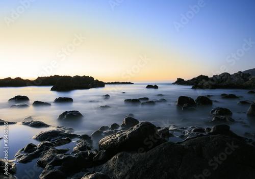 Fotobehang Zwart Sunset Landscape in Tenerife . Canary Islands