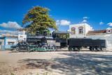 SANTIAGO DE CUBA,  CUBA - FEB 6, 2016: Old steam engine in a port of Santiago de Cuba. - 186466938