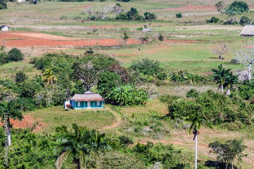 In de dag Olijf Aerial view of Vinales valley, Cuba