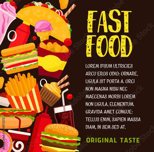 Poster Fast food restaurant banner or poster design