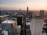 Over Downtown Austin Texas Main Street Traffic Sunset - 186474348