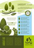 Landscape design business banner template - 186474986