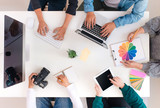 Young creative team having a meeting in creative office - teamwork concepts. - 186494534