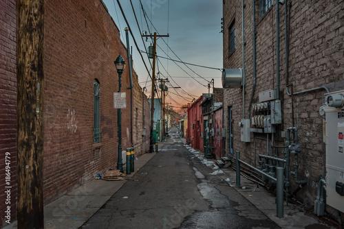 Aluminium Smalle straatjes 冬のアメリカの下町