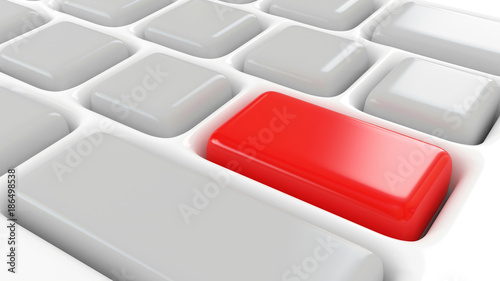 3d abstract keyboard empty