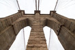 details of brooklyn bridge in autumn, New york city