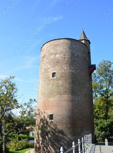 Fotobehang Brugge Pulverturm, Brügge