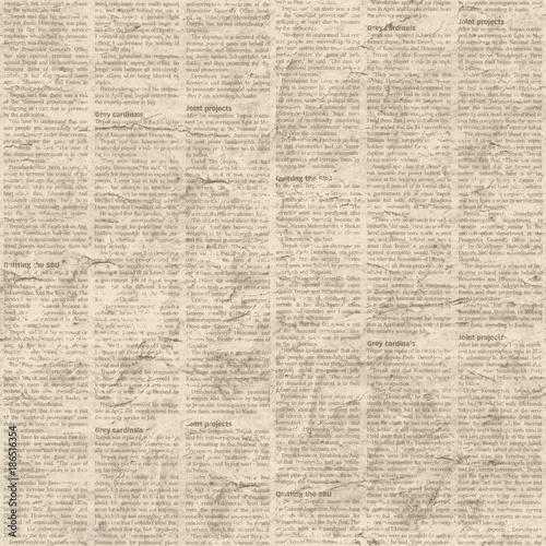 Naklejka Newspaper texture seamless background