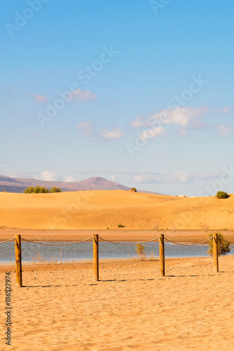Foto op Aluminium Blauw Sand Dunes Maspalomas