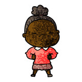 cartoon peaceful old woman - 186533189