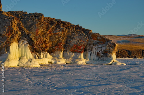 In de dag Blauwe jeans The unique ice lake Baikal