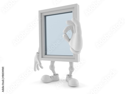 Window character with ok gesture - 186544161