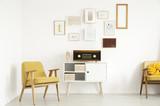 Yellow warm living room - 186547308