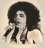 Afro american jazz singer - 186548188