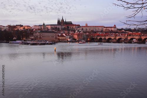 Blick zur Prager Burg Poster