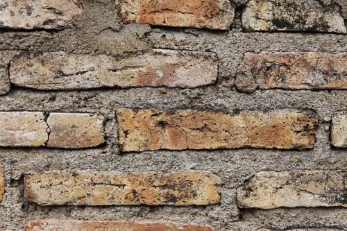 multiple brick wall