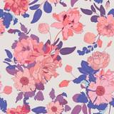 Spring Blossom Seamless Vector Background - 186551364