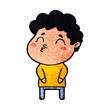 cartoon man pouting